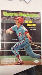 SPORTS ILLUSTRATED COVER SIGNED BY PHILLIES MIKE SCHMIDT JSA