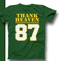 Green & Gold Thank Heaven for 87 Shirt Jordy