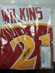 Atlanta Hawks Dominique Wilkins Autographed Custom Jersey TRISTAR