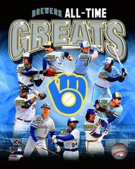 Milwaukee Brewers All Time Greats 16x20 Canvas