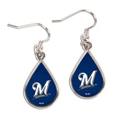 Milwaukee Brewers Teardrop Dangle Earrings MLB
