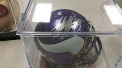 Adrian Peterson Minnesota Vikings Autographed Mini Helmet AP Hologram