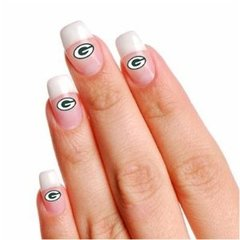 Green Bay Packers Fingernail Tattoos