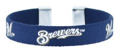 MILWAUKEE BREWERS MLB RIBBON FAN BAND BRACELET