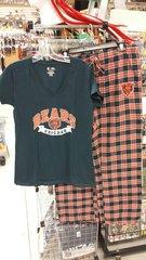 Chicago Bears Ladies Medalist Pant & Short Sleeve Shirt Set Flannel