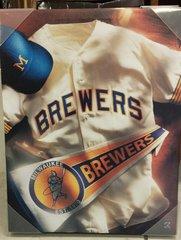 Milwaukee Brewers 16x20 Canvas Barrel Man Logo