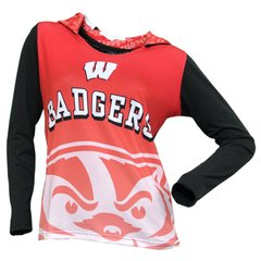 Wisconsin Badgers Ladies Cameo Hooded Top BLOWOUT!!!