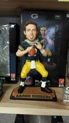 "Green Bay Packers Aaron Rodgers Real jersey 10"" Bobblehead"