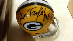 Green Bay Packers Jim Taylor Mini Helmet Autographed