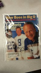 SPORTS ILLUSTRATED COVER SIGNED BY COWBOYS BARRY SWITZER JSA