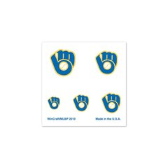 Milwaukee Brewers Fingernail Tattoos