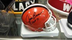 Cleveland Browns Jim Brown Autographed Mini Helmet