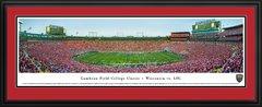 Wisconsin Badgers vs LSU at Lambeau Field Panoramic Framed