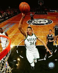 Milwaukee Bucks Giannis Antetokounmpo 16x20 Canvas #3 Brooklyn