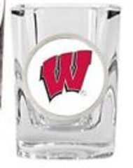 Wisconsin Badgers NCAA Square Shot Glass