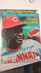 SPORTS ILLUSTRATED COVER SIGNED BY REDS JOE MORGAN JSA