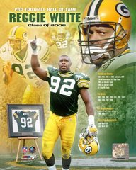 Green Bay Packers Reggie White Hall of Fame Canvas
