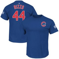 Chicago Cubs Anthony Rizzo Royal 2016 World Series Champions Name & Number T-Shirt