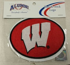 Wisconsin Badgers Peel & Stick Logo 5x5 Embroidered
