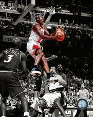 Chicago Bulls Michael Jordan Colorized White Jersey 16x20 Canvas