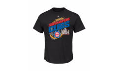 Men's Chicago Cubs Majestic Black 2016 World Series Champions Parade T-Shirt