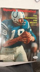 SPORTS ILLUSTRATED COVER SIGNED BY COLTS JOHNNY UNITAS JSA
