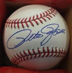 Cincinnati Reds Pete Rose Official MLB Baseball Autographed