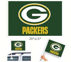 Green Bay Packers Auto Car Flag
