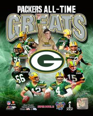 Green Bay Packers All Time Greats 16x20 Canvas