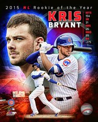 Chicago Cubs Kris Bryant 16x20 Rookie of the Year Canvas