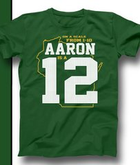 Green & Gold On A Scale of 1 to 10 Aaron is a 12 Shirt Aaron