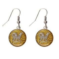 Milwaukee Brewers Glitter Dangle Earrings MLB