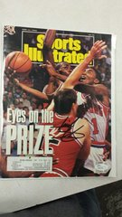 SPORTS ILLUSTRATED COVER SIGNED BY PISTONS ISIAH THOMAS JSA