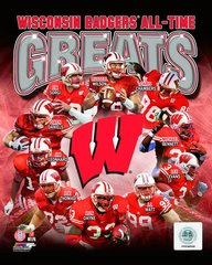 Wisconsin Badgers All Time Greats 16x20 Canvas