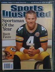 Green Bay Packers Brett Favre Sportsman of the Year Magazine