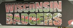 Wisconsin Badgers 9x30 Canvas Name Field