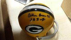 Green Bay Packers Allen Brown Mini Helmet Autographed