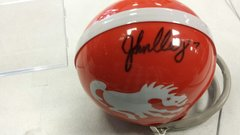 John Elway Denver Broncos Throwback Autographed Mini Helmet MM Hologram