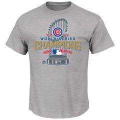 Chicago Cubs Gray 2016 World Series Champions Locker Room T-Shirt