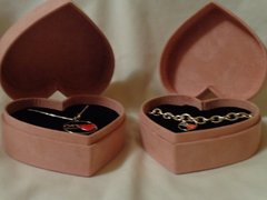 Silver Plated Necklace & Charm Bracelet Set