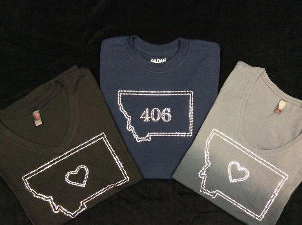 Montana 406 Bling Tshirt Silver Threads