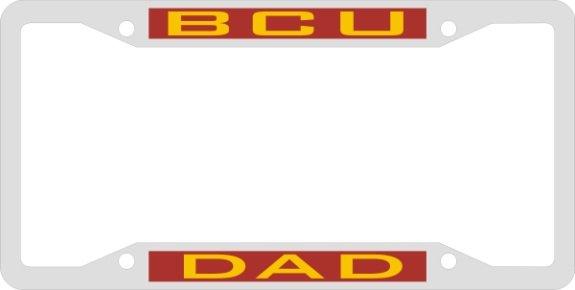License Plate Frame Bcu Dad Hbcu Hbcu Historically