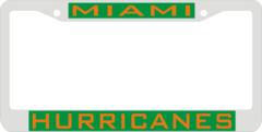 License Plate Frame, Miami Hurricanes