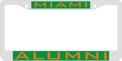 License Plate Frame, Miami Alumni