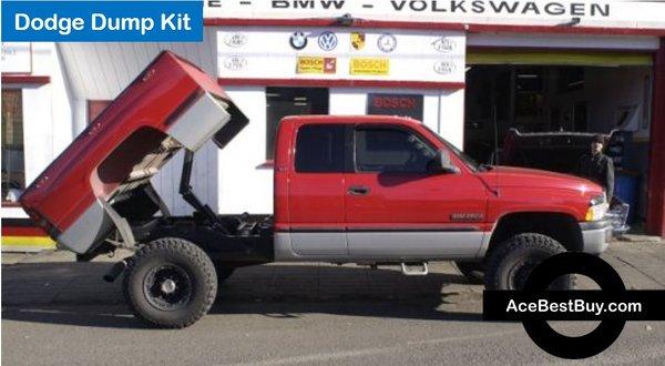 Pick Up Dump Bed Kits : Pierce ton dodge pickup dump bed hoist kit acebestbuy