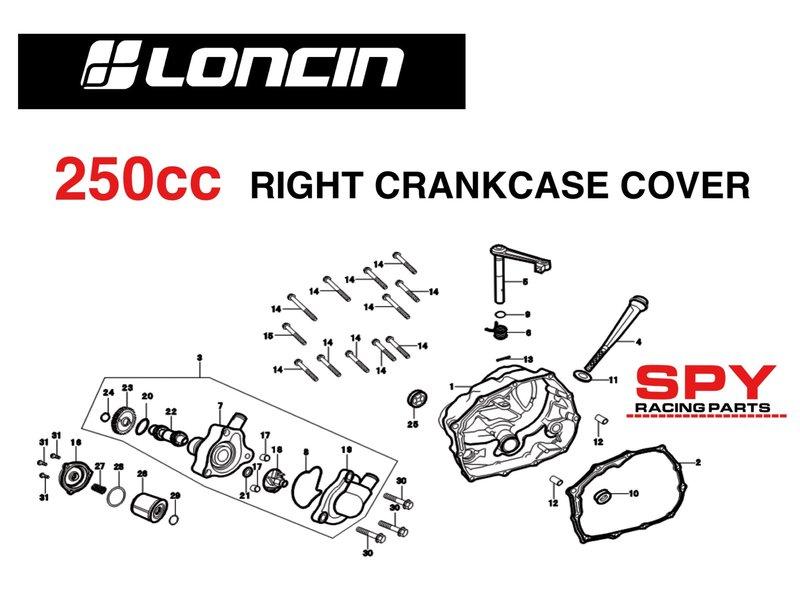 250cc loncin engine diagrams spy racing engine parts | Spy ... on