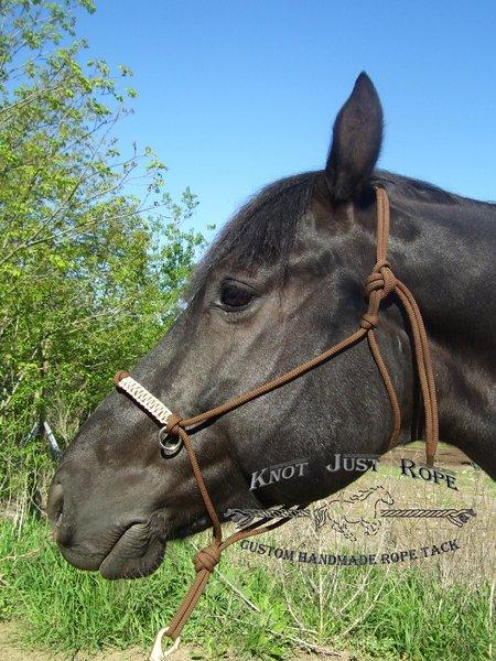 Rope Halter With Reins Bitless Bridle Parelli Natural Horsemanship PINK COB