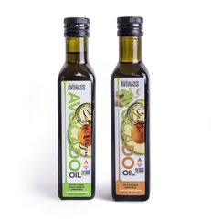 2 Pack Avohass New Zealand Extra Virgin Avocado Oil & Extra Virgin Garlic Infused Avocado Oil, Non-GMO Project Verified, Kosher Certified, (2) 8.5 fl. oz. Bottles. Expiration Date Feb 2021. Free Shipping within US, Puerto Rico, Guam and US Virgin Islands.