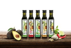 """The Ultimate Collection"" (5) 8.5 fl. oz. Bottles. Organic Extra Virgin, Conventional Extra Virgin, Lime, Garlic and Chili Assortment. 25.3% Discount! Product Expiration Date April 2020."