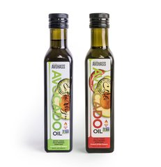 2 Pack Avohass New Zealand Extra Virgin Avocado Oil & Extra Virgin Chili Infused Avocado Oil, Non-GMO Project Verified, Kosher Certified, (2) 8.5 fl. oz. Bottles. Expiration Date Feb 2021. Free Shipping within US, Puerto Rico, Guam and US Virgin Islands.